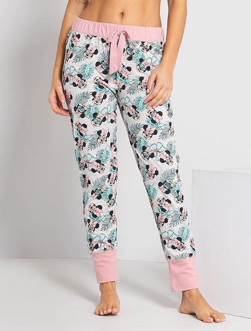 Pantaloni pigiama 'Minnie'                                         rosa/verde