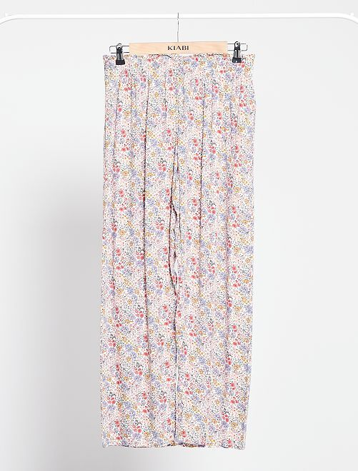Pantaloni pigiama morbidi                                         BIANCO