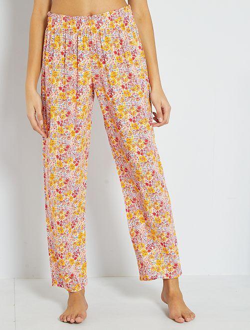 Pantaloni pigiama morbidi                                         ROSA