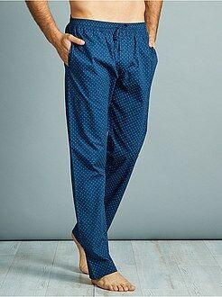 Pigiami, accappatoi - Pantaloni pigiama popeline puro cotone