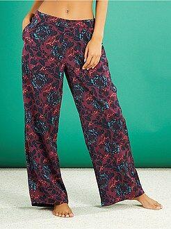 Intimo dalla S alla XXL Pantaloni pigiama satinati stampati