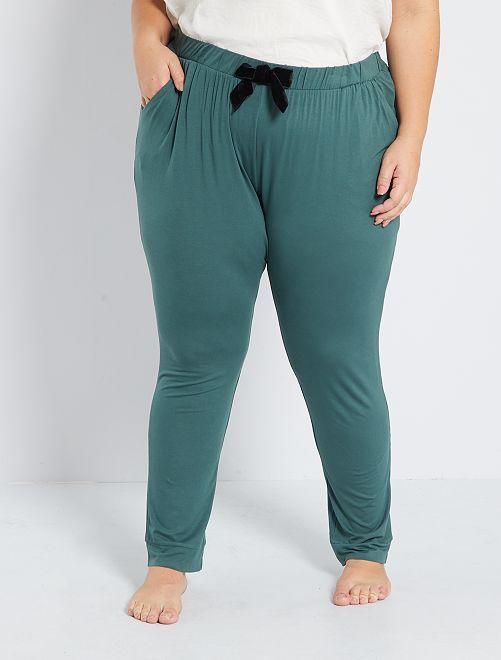 Pantaloni pigiama                                         VERDE