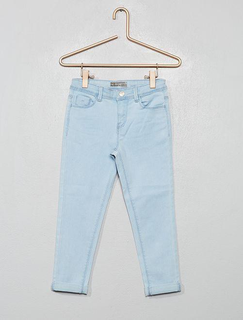 Pantaloni pinocchietto in jeans                                         BLU