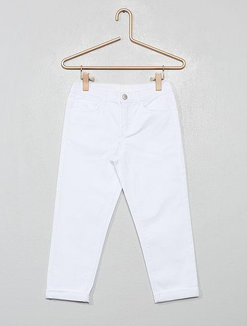 Pantaloni pinocchietto skinny                                                                                         bianco
