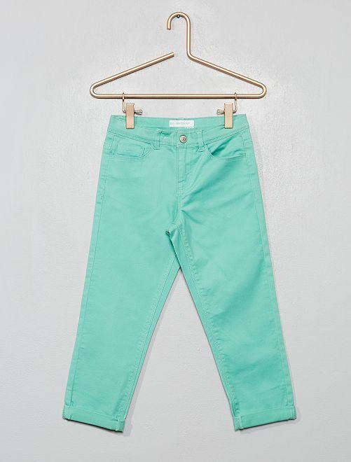 Pantaloni pinocchietto skinny                                                                                         VERDE