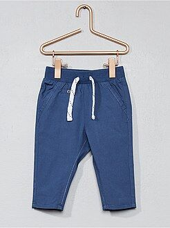 Bambino 0-36 mesi - Pantaloni popeline puro cotone - Kiabi