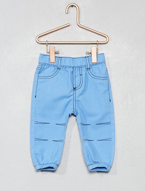 Pantaloni puro cotone                                                                 BLU Neonato