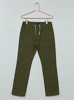 Pantaloni - Pantaloni regular fodera jersey - Kiabi