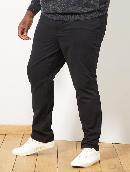 Pantaloni regular gabardine                                                                 nero Taglie forti uomo