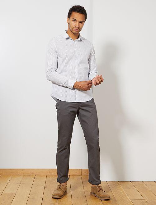 Pantaloni regular morbidi al tocco                                                         grigio