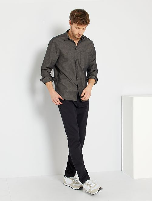 Pantaloni regular morbidi al tocco                                                                             nero Uomo