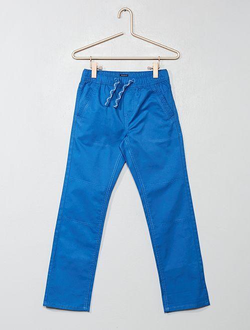 Pantaloni regular puro cotone                                         BLU Infanzia bambino