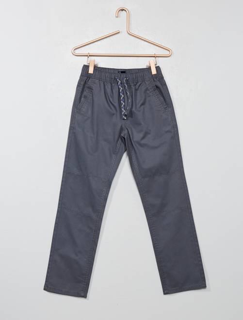 Pantaloni regular puro cotone                                 GRIGIO Infanzia bambino