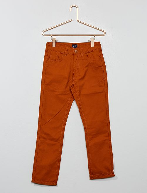 Pantaloni regular tinta unita                                                                                         ARANCIONE