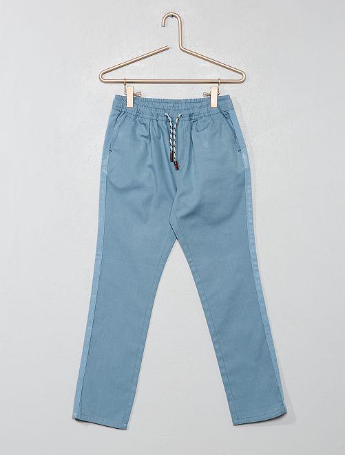 Pantaloni regular tinta unita                                                                                         BLU Infanzia bambino