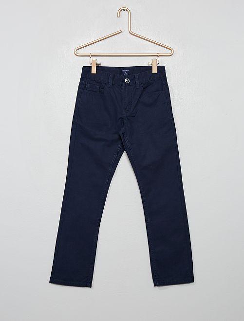 Pantaloni regular tinta unita                                                                             blu