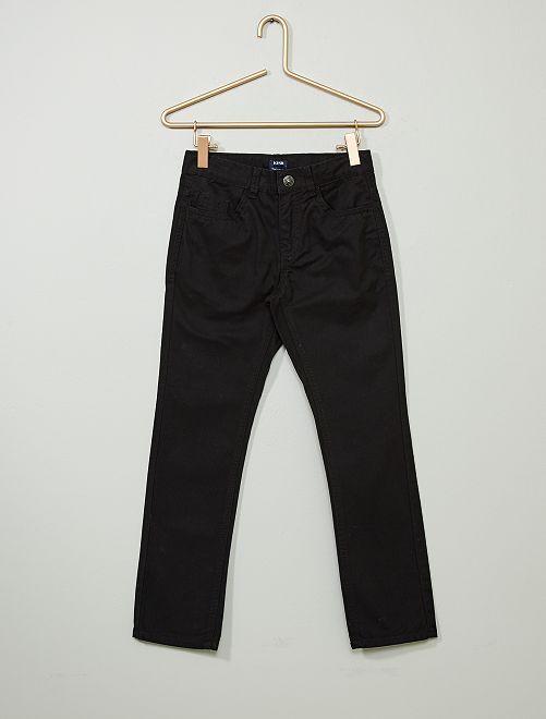 Pantaloni regular tinta unita                                                                                 nero