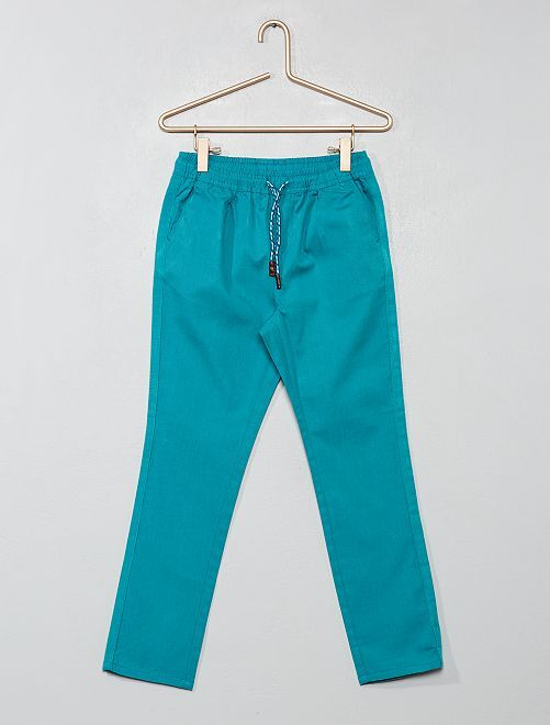 Pantaloni regular tinta unita                                                                                         VERDE Infanzia bambino