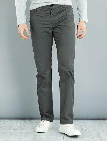Taglie forti Uomo - Pantaloni regular twill di cotone L36 + 1 m 90 - Kiabi