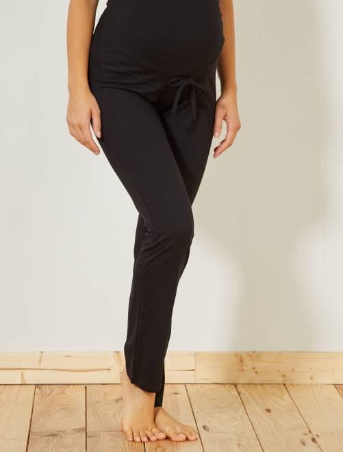 Pantaloni relax premaman eco-sostenibili                     nero