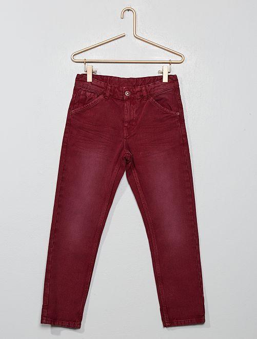 Pantaloni relaxed fit                     marrone mogano