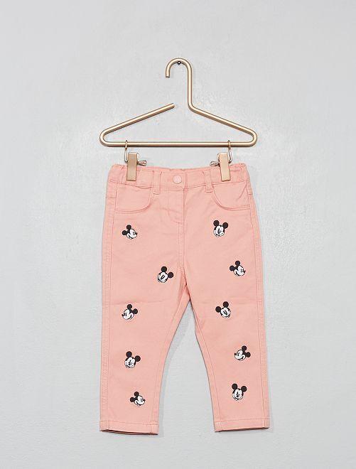 Pantaloni ricamo 'Topolino'                             ROSA