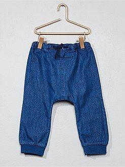 Denim - Pantaloni sarouel denim leggero