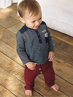 Pantaloni sarouel dettagli bottoni - Kiabi