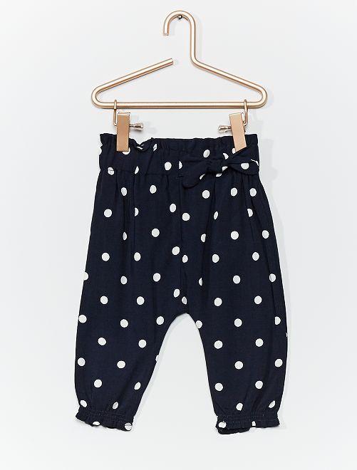 Pantaloni sarouel stampati                                                     BLU