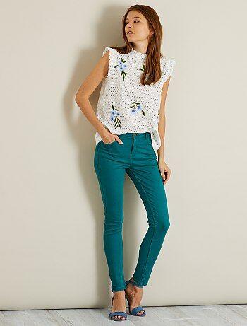 Pantaloni skinny 7/8 vita alta - Kiabi