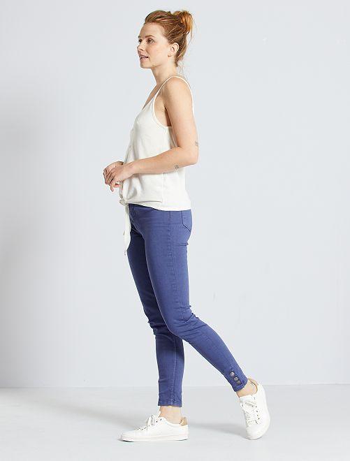 Pantaloni skinny a vita alta                                         blu cobalto