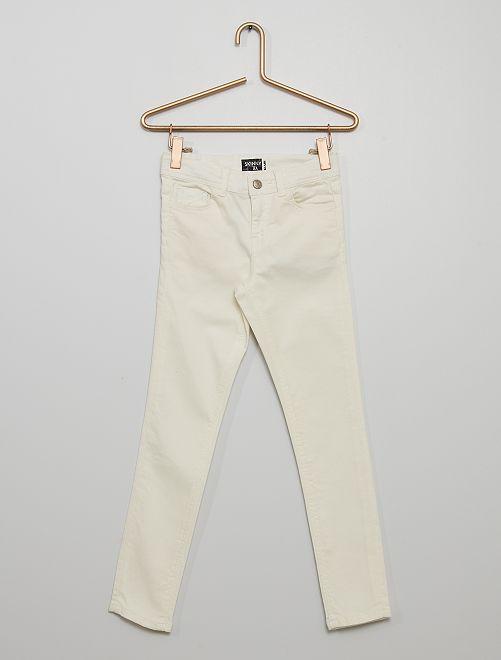 Pantaloni skinny                                                                                                     bianco neve