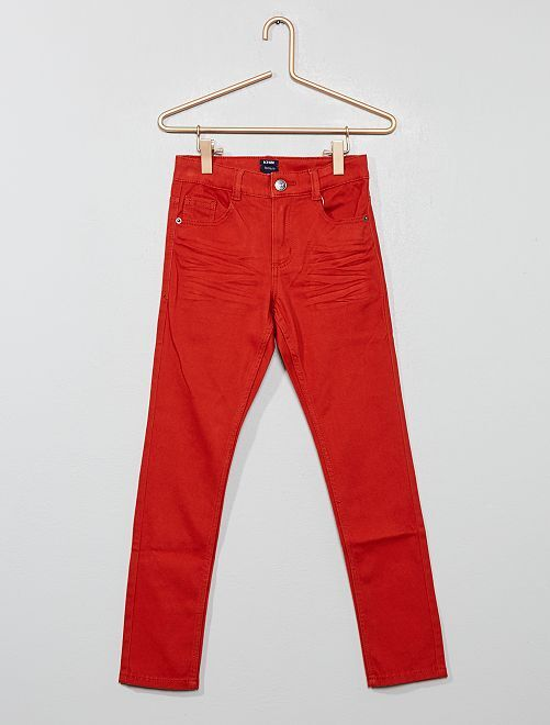 Pantaloni skinny cinque tasche                                                                                                                                                                             arancio ketchup