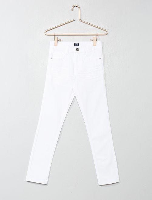 Pantaloni skinny cinque tasche                                                                                         bianco Infanzia bambino