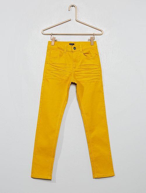 Pantaloni skinny cinque tasche                                                                                                                 giallo bronzo