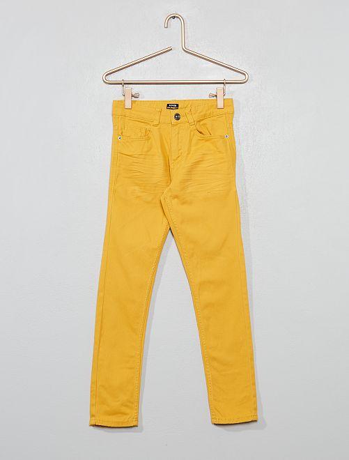 Pantaloni skinny cinque tasche                                                                                                                             GIALLO Infanzia bambino