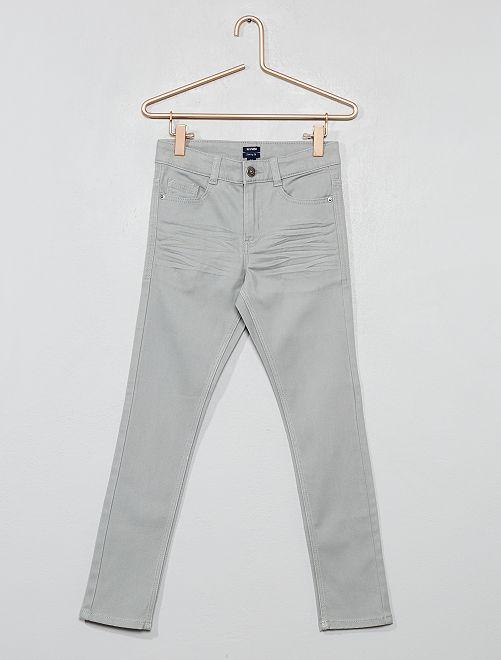 Pantaloni skinny cinque tasche                                                                                                                             grigio  Infanzia bambino
