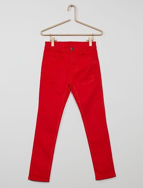Pantaloni skinny cinque tasche                                                                                                                                                                                         rosso