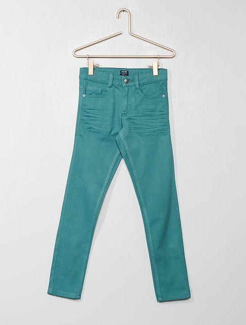 Pantaloni skinny cinque tasche                                                                                                                                         verde grigio Infanzia bambino