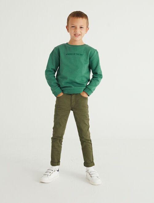 Pantaloni skinny cinque tasche                                                                                                                                         verde scuro