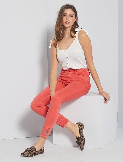 Pantaloni skinny colorati                                                                 rosa arancione
