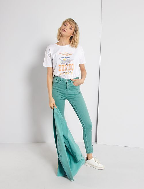 Pantaloni skinny colorati                                                                 VERDE