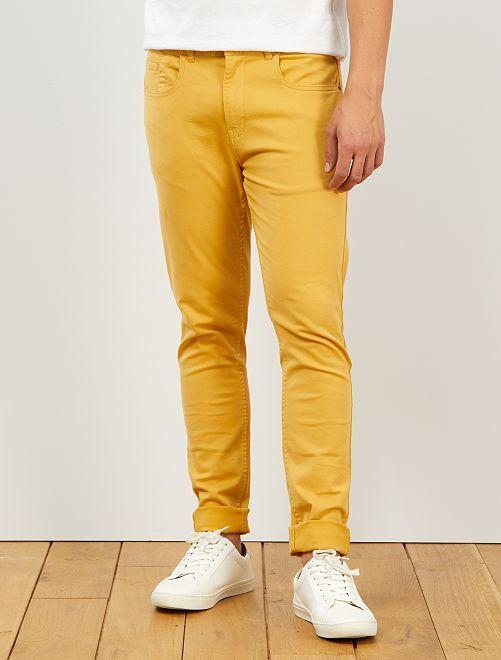 Pantaloni skinny cotone stretch                                                                 GIALLO