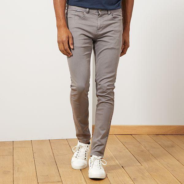 comprare a buon mercato design innovativo originale a caldo Pantaloni skinny cotone stretch Uomo - GRIGIO - Kiabi - 12,00€