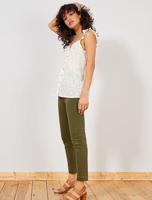 Pantaloni skinny denim                                             KAKI Donna