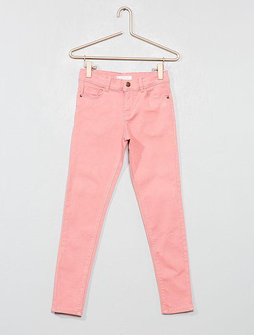 Pantaloni skinny denim                                                                                                                                                                 rosa chiaro Infanzia bambina