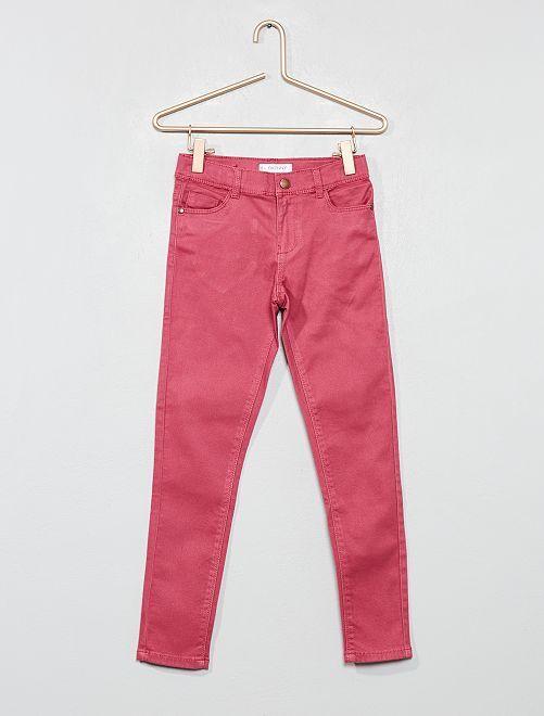 Pantaloni skinny denim                                                                                                     rosa scuro Infanzia bambina