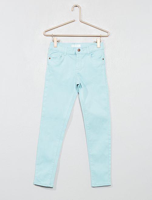 Pantaloni skinny denim                                                                                                                                                                 turchese Infanzia bambina