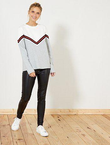 Pantaloni skinny ecopelle - Kiabi