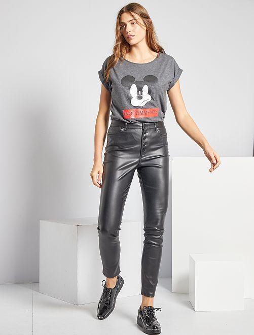 Pantaloni skinny in similpelle                             nero